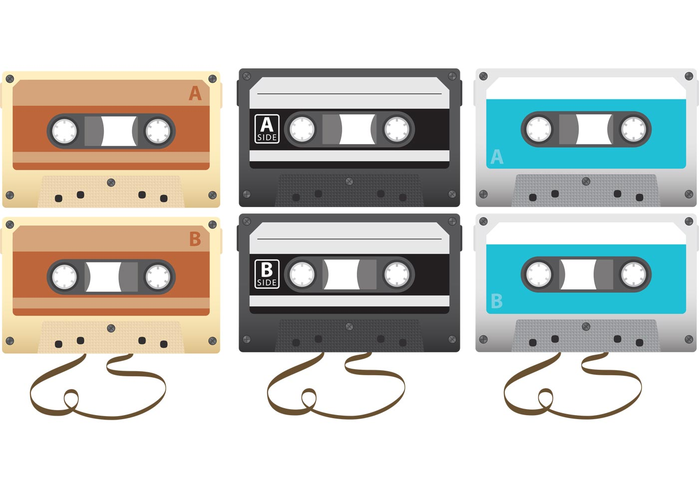 Vector Cassettes Download Free Vector Art Stock
