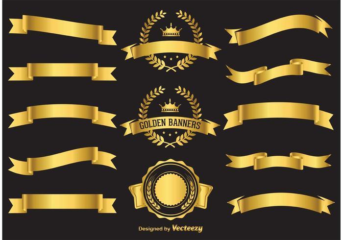 Gold-Vektor-Banner