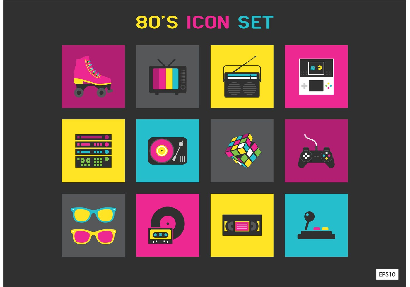 Free 80s Vector... Explosion Black Background