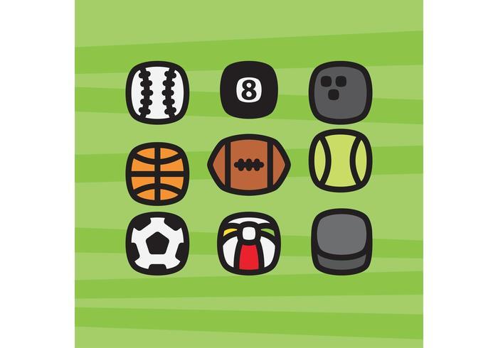 Sportbälle Ikonen