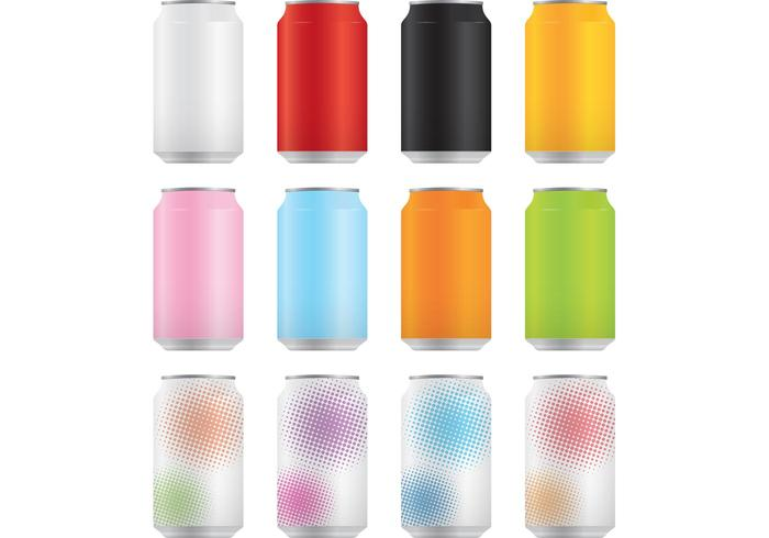 Soda Cans Vector Pack 1