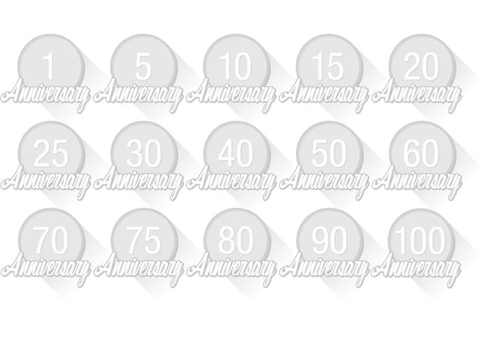 Anniversary Badge Vectors