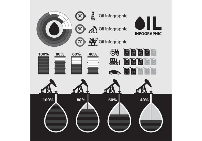 Oil Infographic Vector