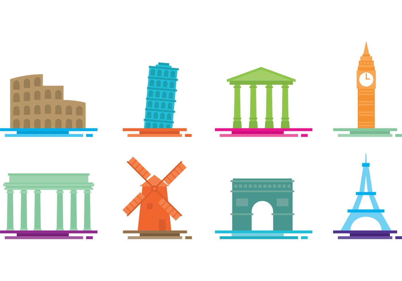 Flat monument vectors download free vector art stock for Clipart to download for free
