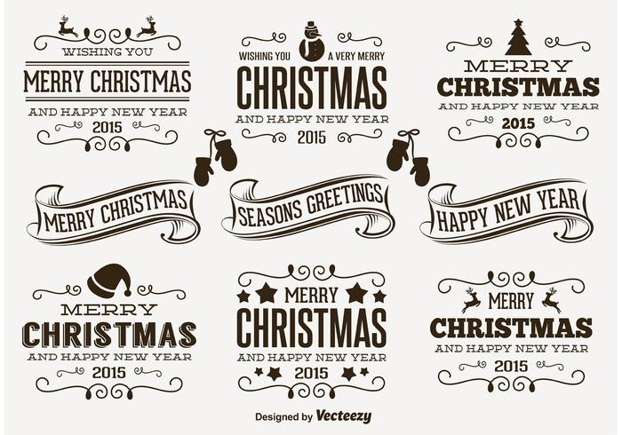 Cute Messy Hand Drawn Style Christmas Labels Download Free Vector