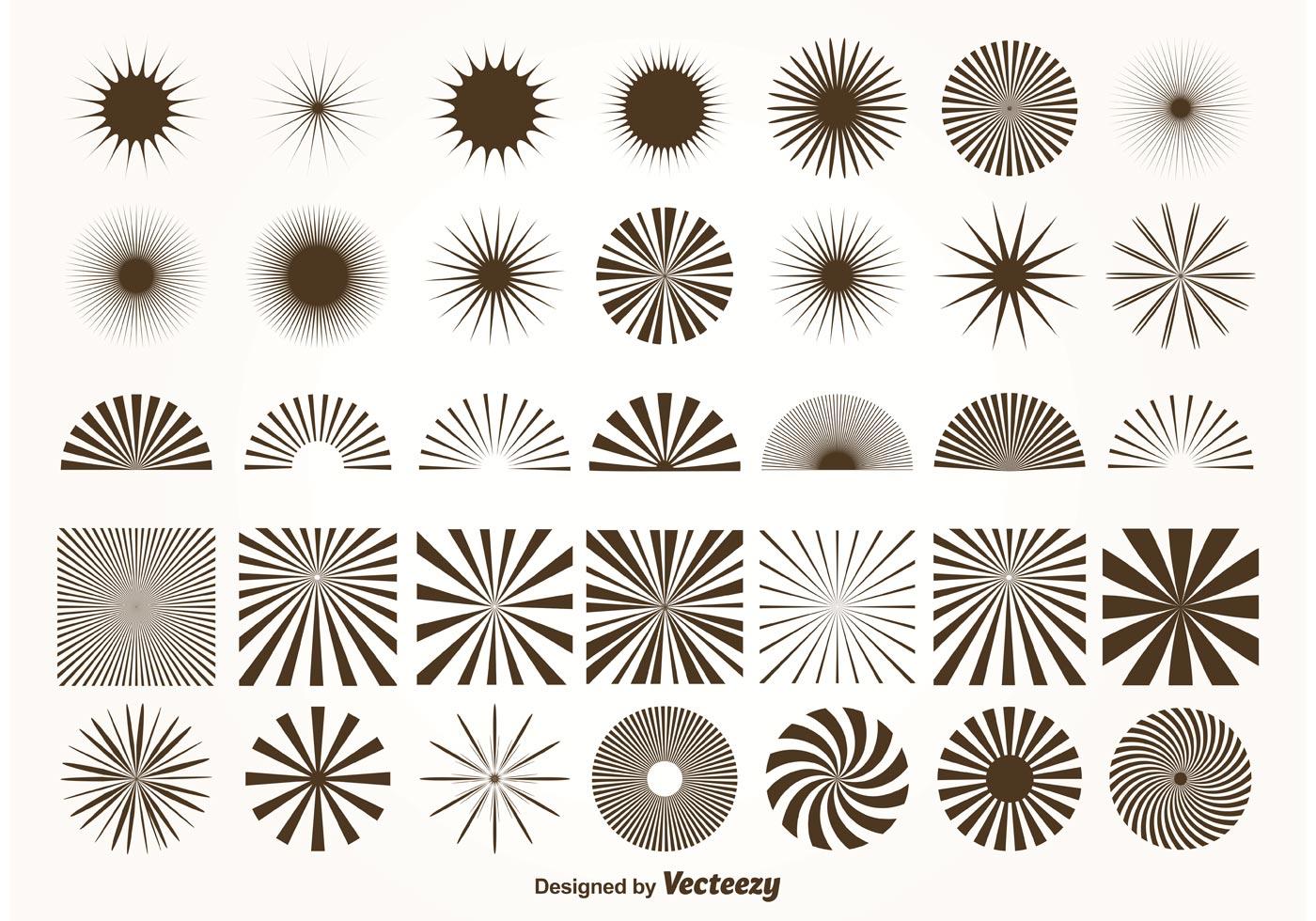 Vector Sunburst Shapes - Download Free Vectors, Clipart Graphics & Vector Art