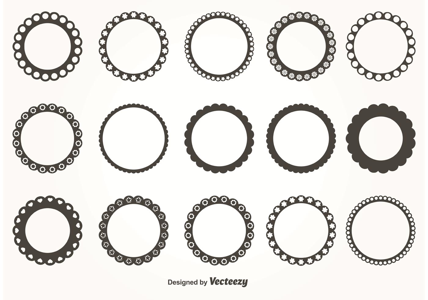 Runde Scalloped Vektor Rahmen - Kostenlose Vektor-Kunst, Archiv ...
