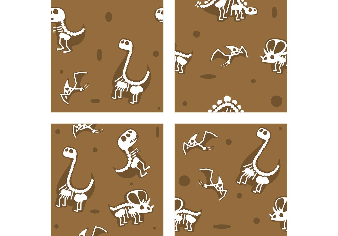 Dinosaur Fossil Vector Backgrounds