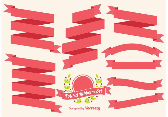 Folded Ribbons Vector Set