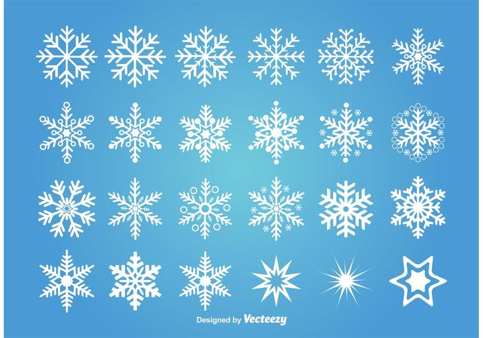 Assorted Vector Snowflakes