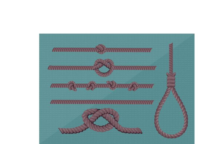 Rope Isolerad Vector Pack