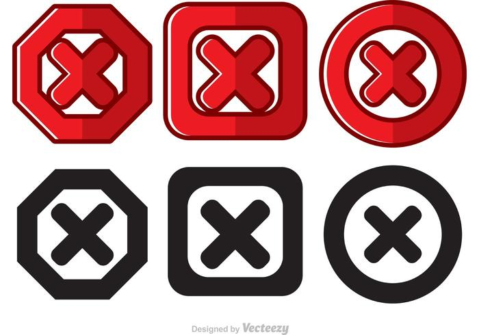 Cancelled Icon Vectors