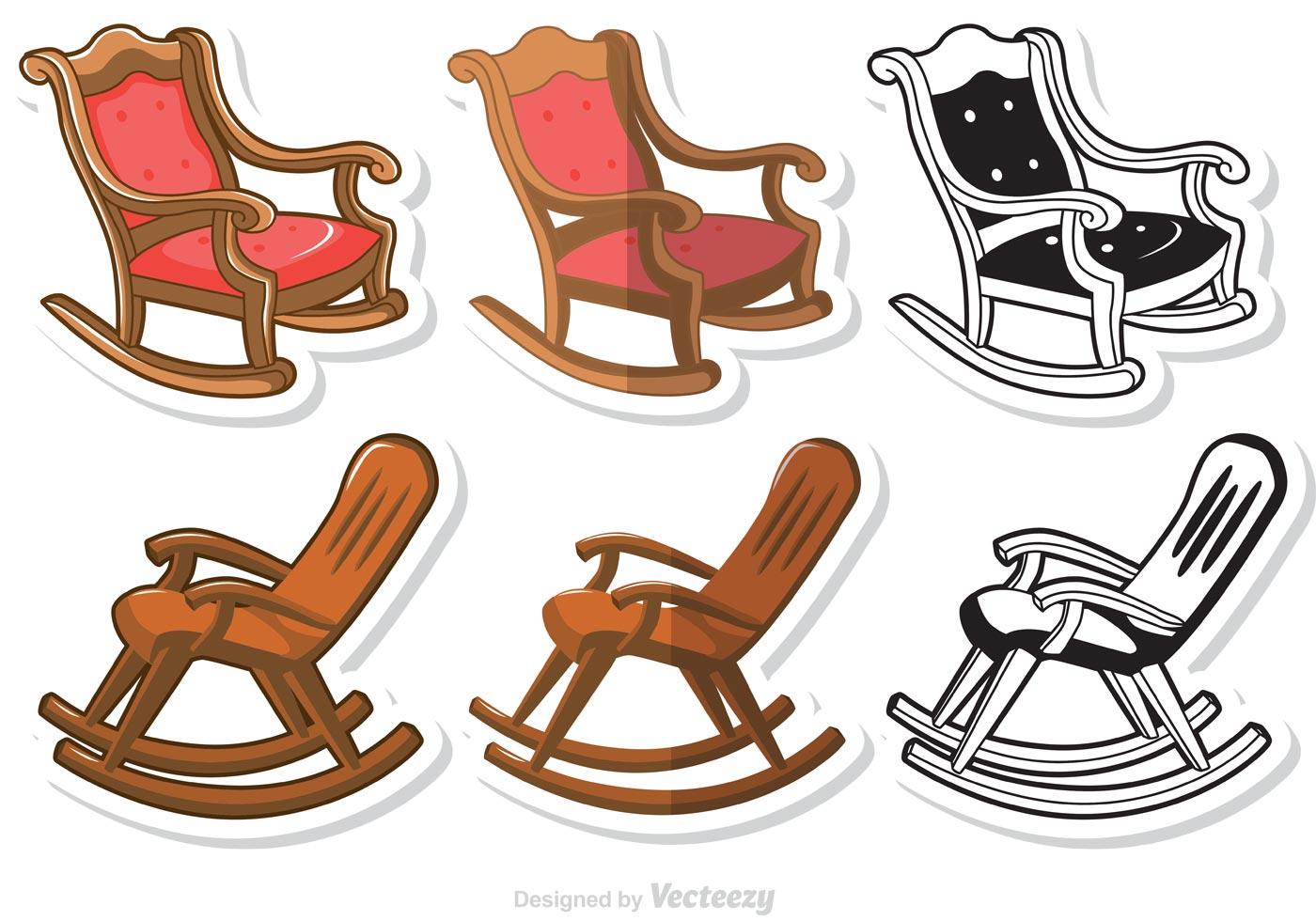 Rocking Chair Vectors Pack Download Free Vectors