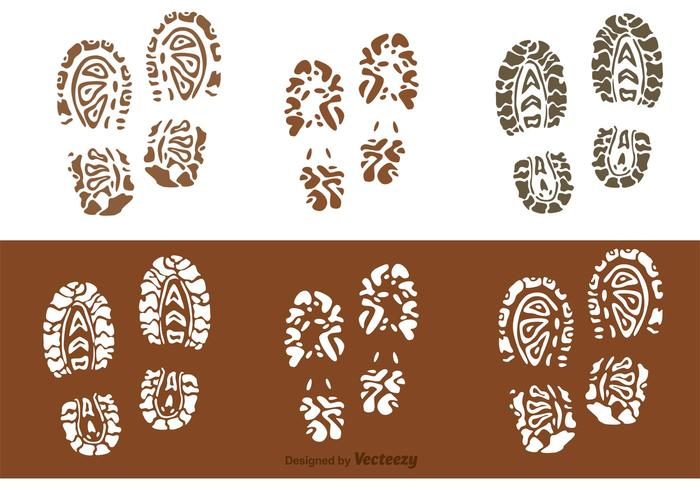 Muddy Footprints Vectors