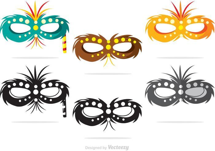Vettori di maschera di Mardi Gras