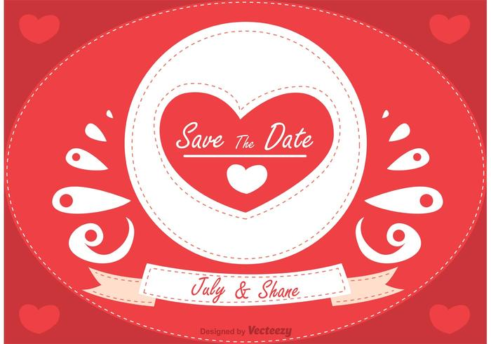Romantic Save the Date Vector