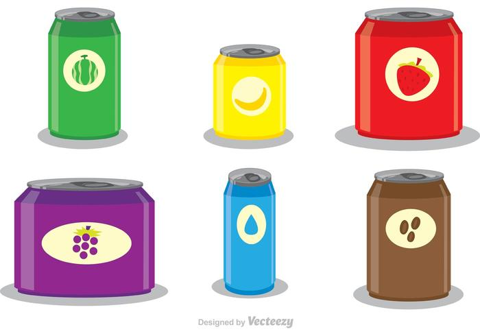Soda Can Template Vectors