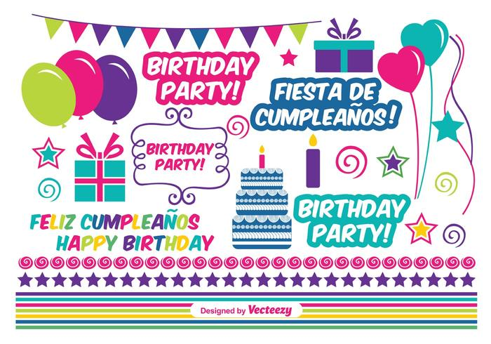 Birthday Vector Elements