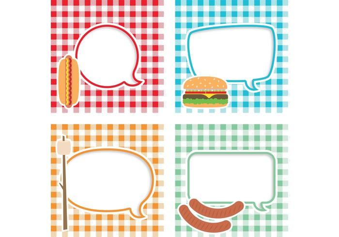 Picnic Vector Text Bubbles
