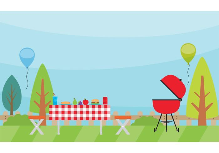 Camping Landscape Vector