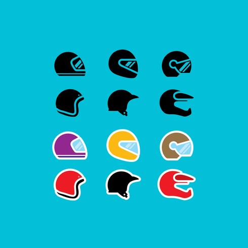 Motorcycle Helmet Vector Icons