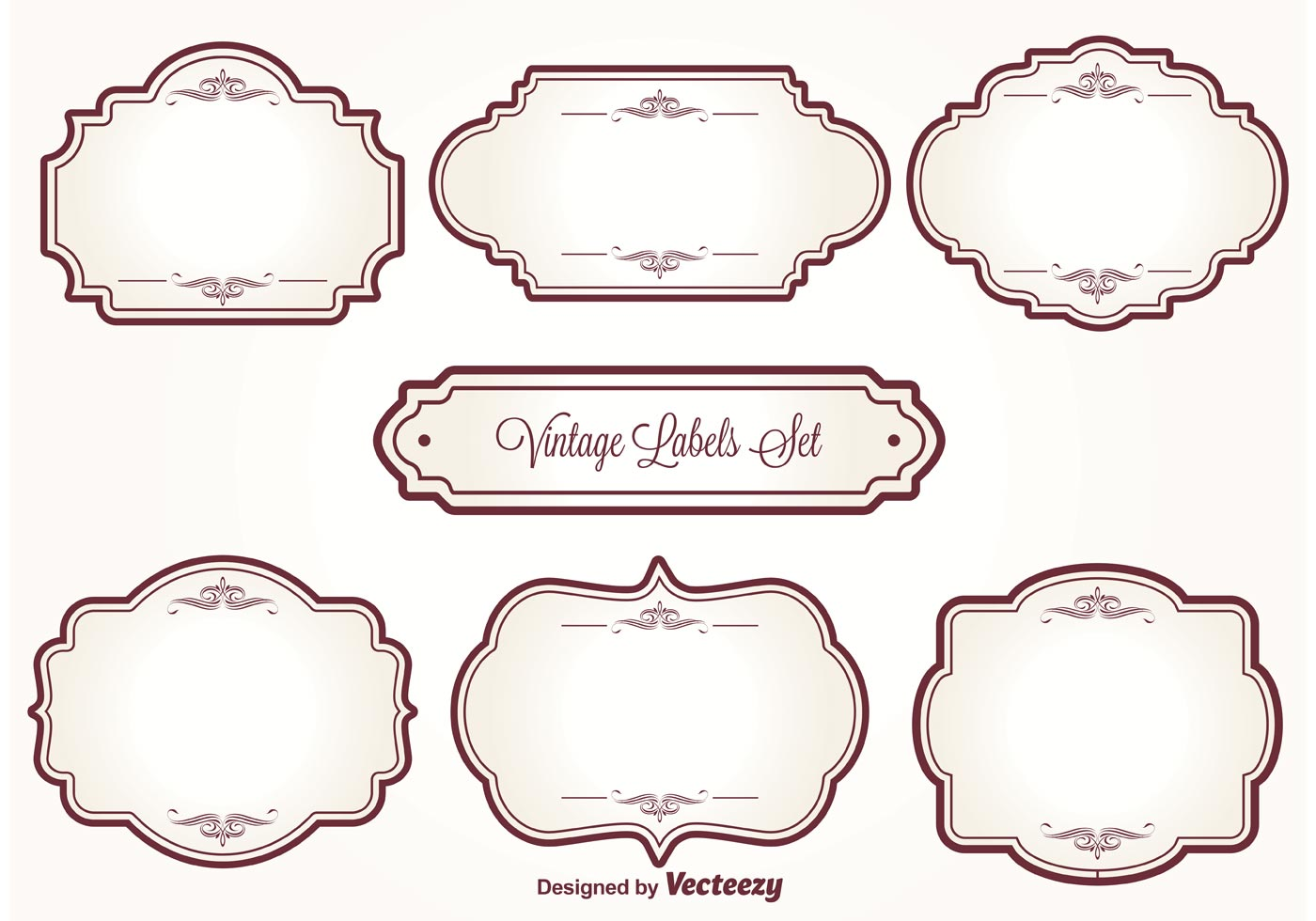Vintage Label Set - Download Free Vectors, Clipart ...