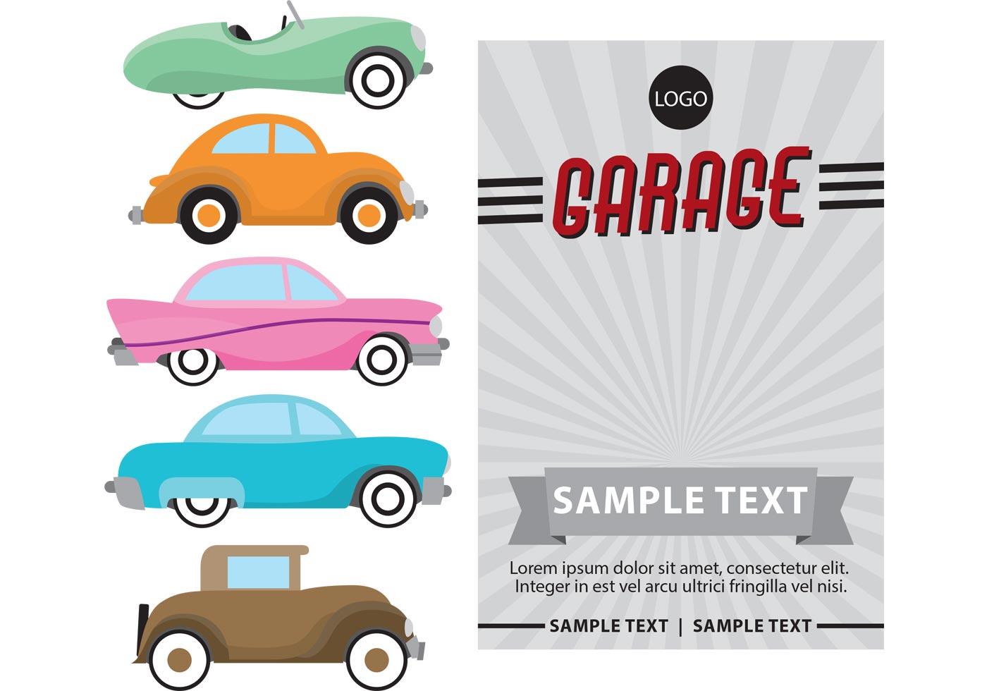 Poster Cars Retro Vector Download Free Vector Art Stock