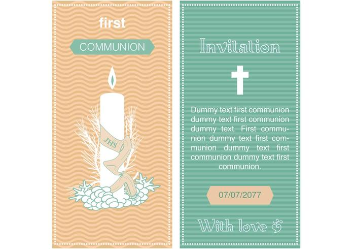 Download Vector - First communion invitation with a girl - Vectorpicker