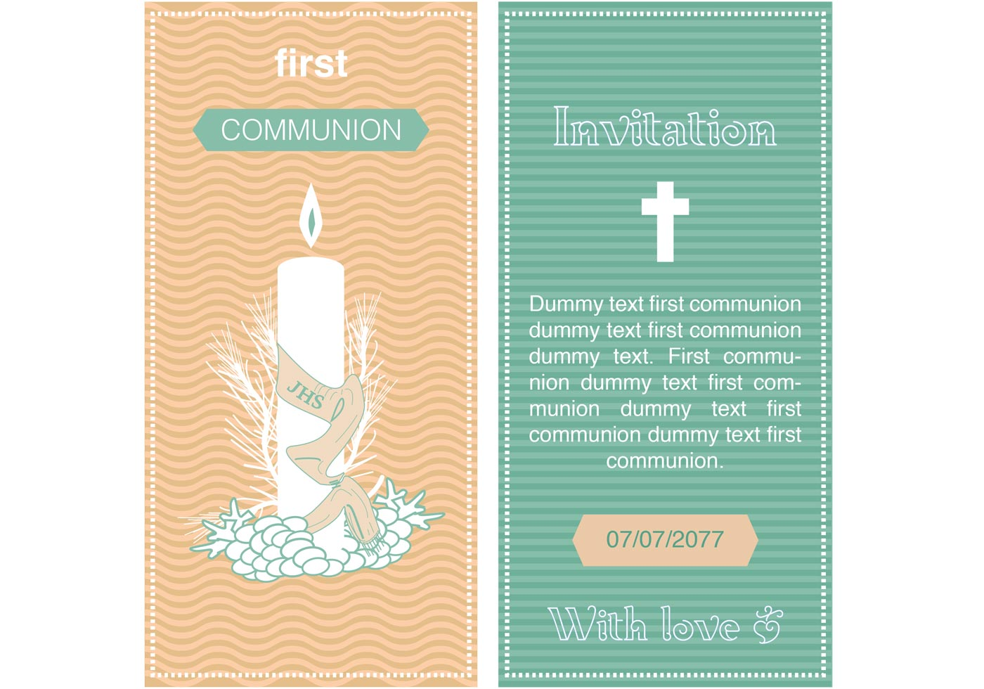 First Communion Invitation Vector - Download Free Vector Art, Stock ... Catholic Chalice