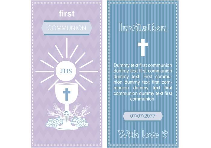 Första kommunionen Invitationsvektorer