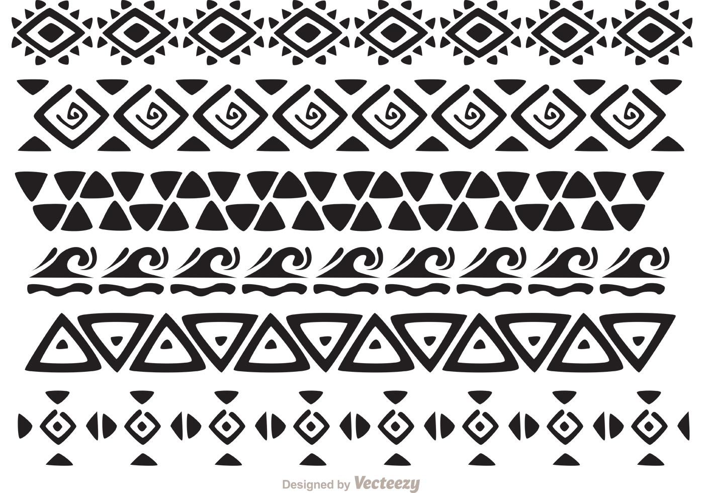 hawaiian tribal pattern vectors pack 2 download free vector art stock graphics images. Black Bedroom Furniture Sets. Home Design Ideas