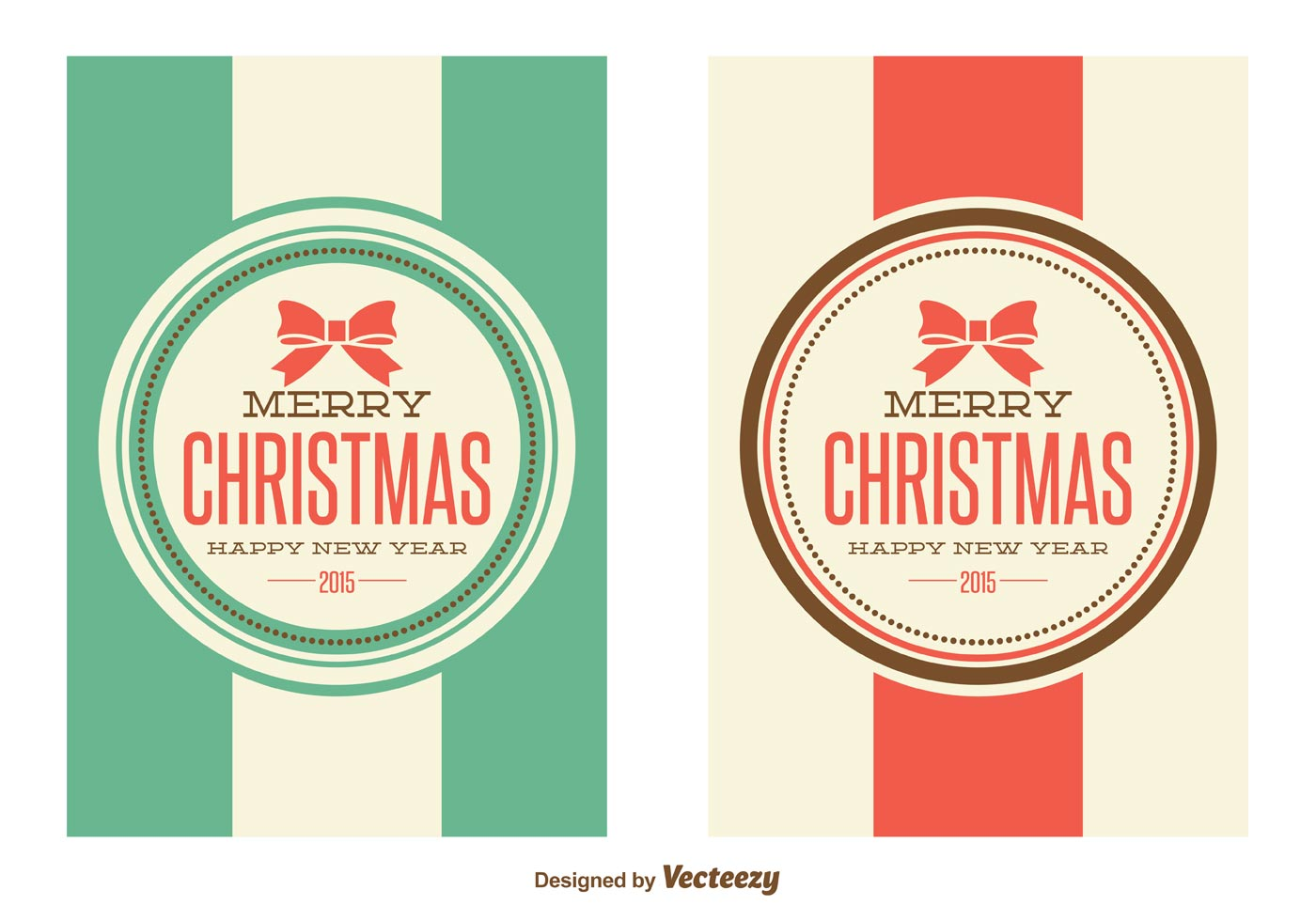 retro style christmas cards download free vector art stock