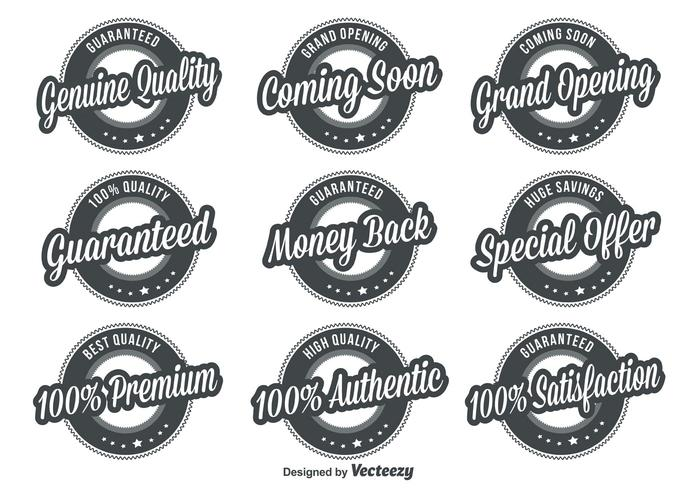 Kwaliteit Retro Badges vector
