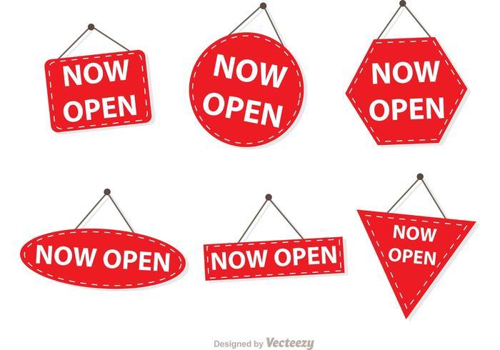 Simple Now Open Sign Vectors