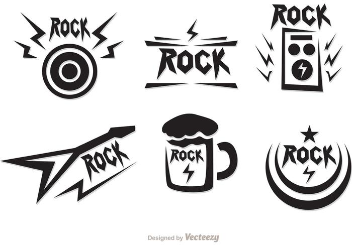 Rock Music Symbols Vectors Pack Download Free Vector Art Stock