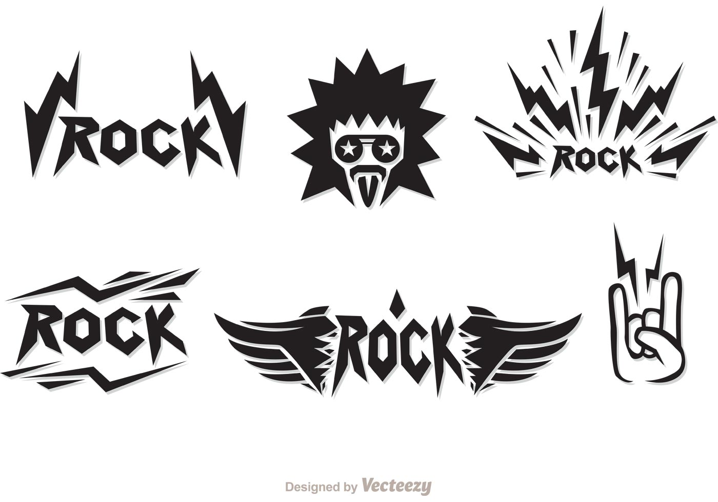Rock Music Symbols Vectors Download Free Vector Art Stock