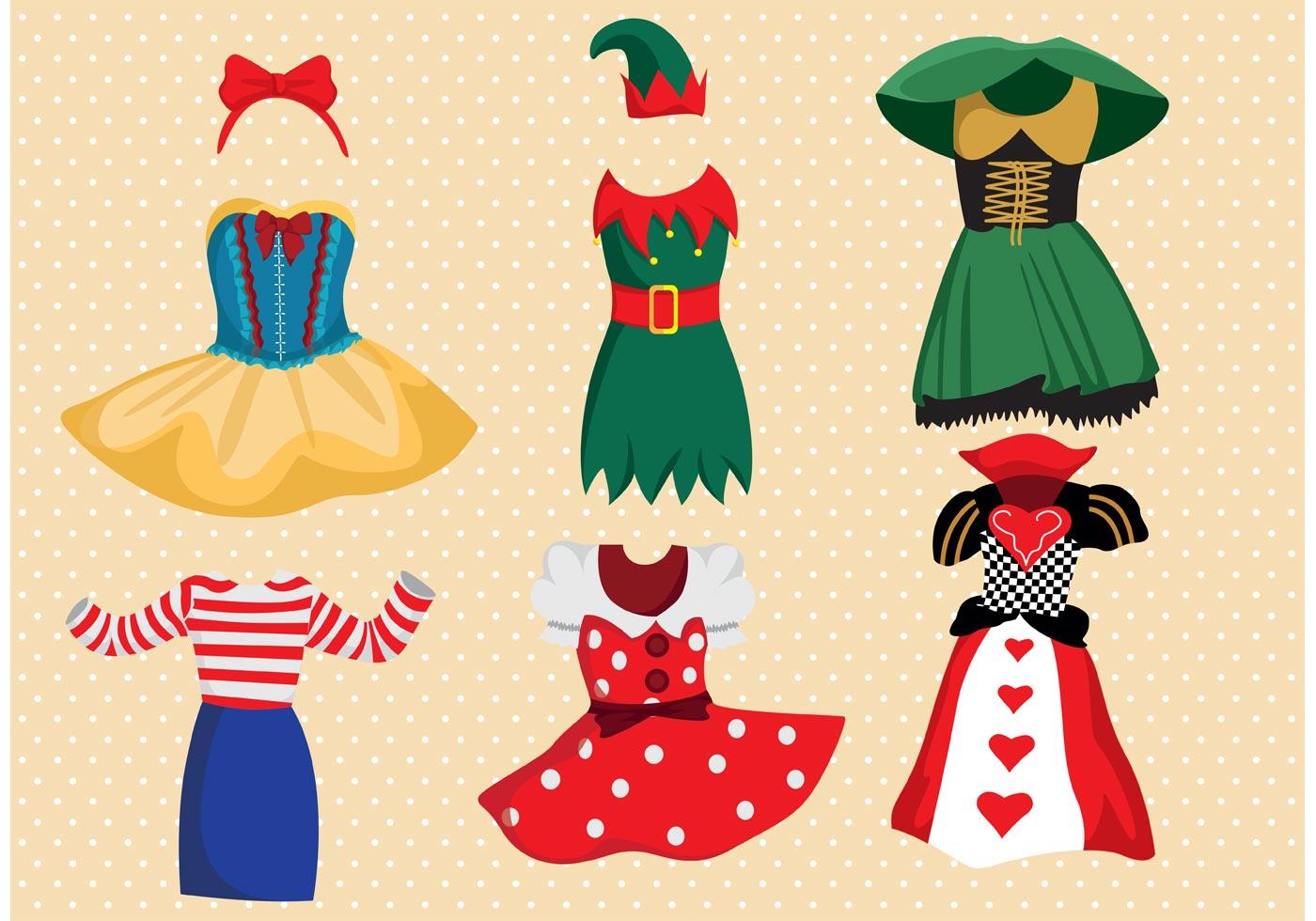 Fancy Dress Costume Vector Pack - Download Free Vectors ...