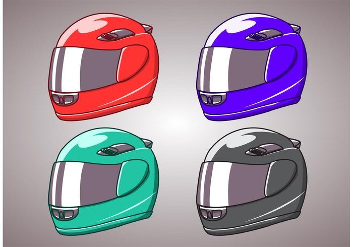 Motorcykelhjälm isolerad
