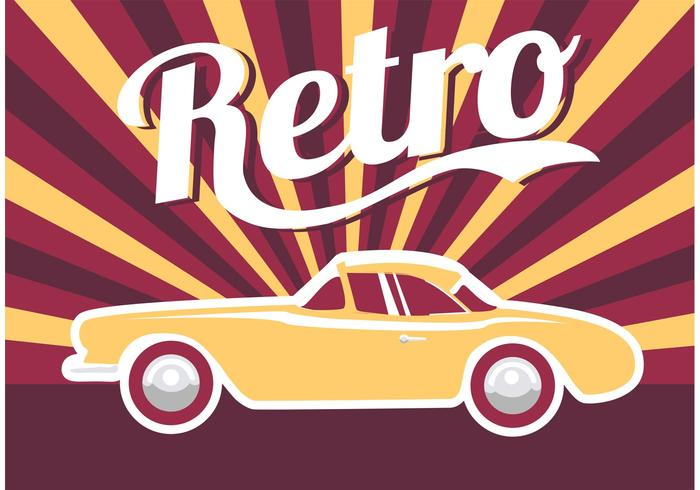 Poster Car Retro vector