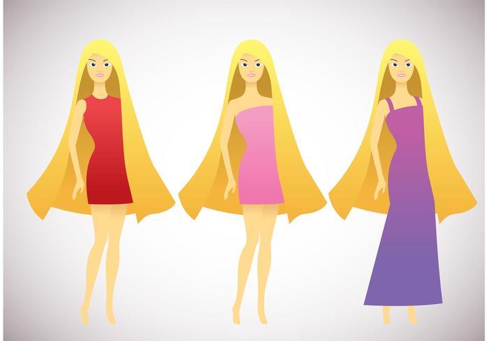 Pack de vectores de Barbie