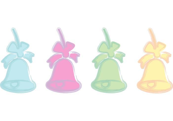 Pastel Xmas Bell Vectors