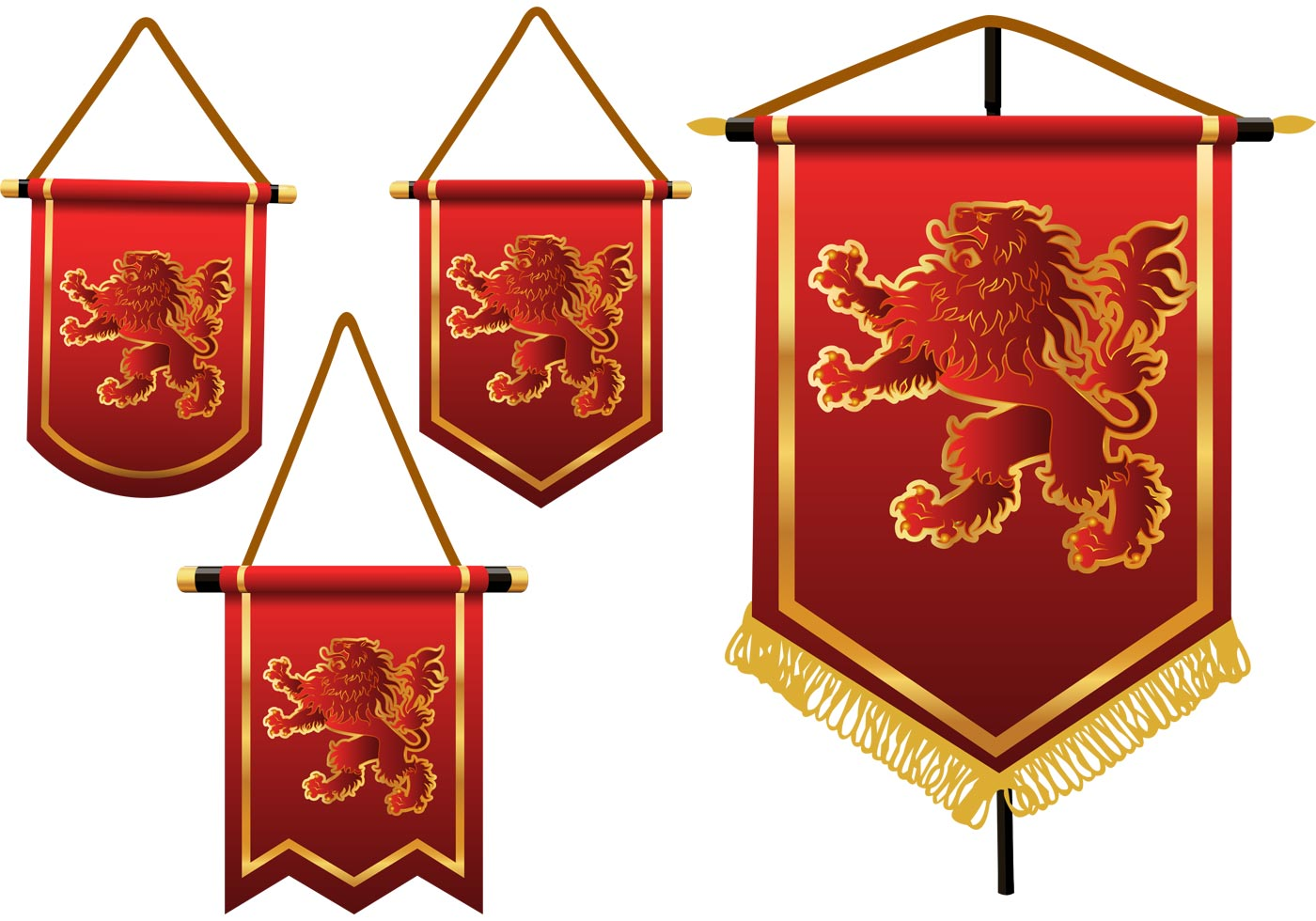 Heraldic Lion Vector Banners - Download Free Vector Art ...