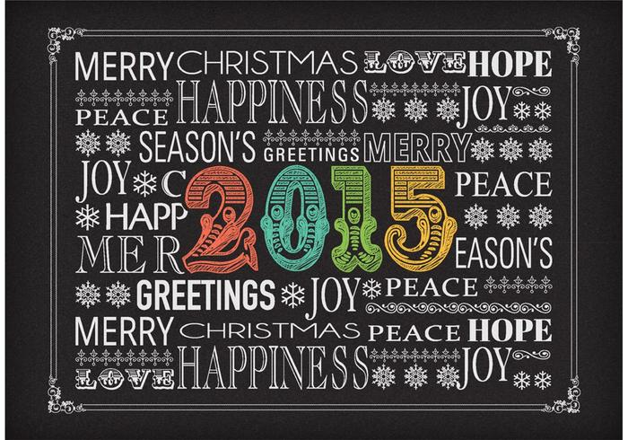 Free Vector Chalk New Years Eve Typography