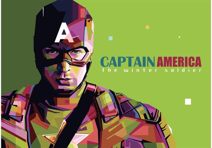 Captain America Vector Porträtt
