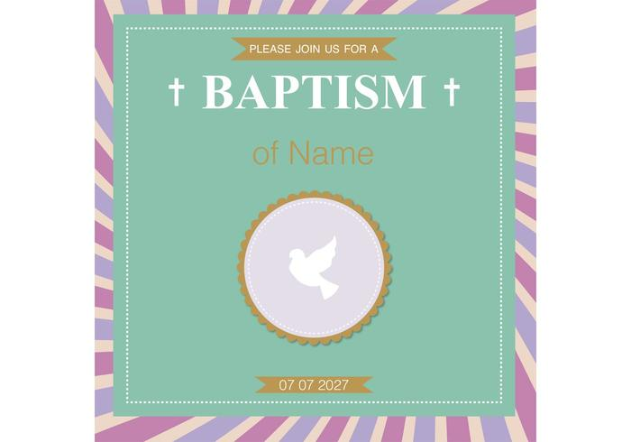 Baptism Card Christening Vector
