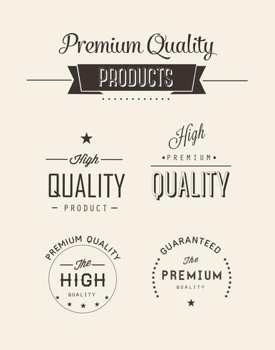 Free Premium Quality Vector Labels