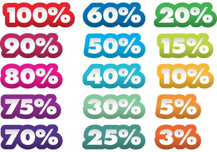 Percent Vector Stickers
