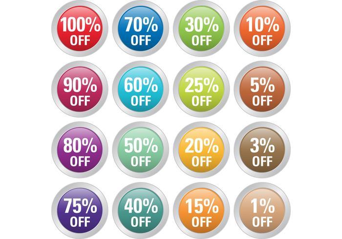 Percent Off Badge Vectors