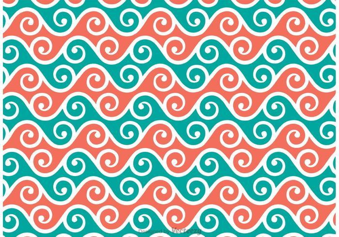 Patrón Swirly Vector