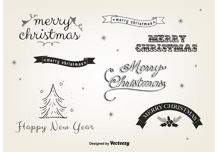 Free Christmas Vector Labels